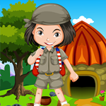 Play Games4King Small Girl Escape From Stone House