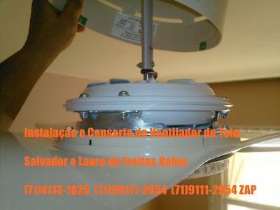 Ventilador de teto ficou muito lento consertamos em Salvador-Ba-71=4113-1825