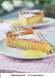 Cake met citroen mascarpone creme