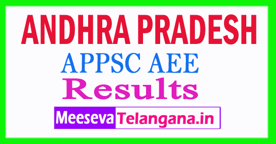 APPSC AEE Results 2018