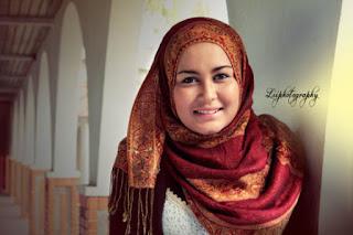 hijab tutorial untuk wajah bulat