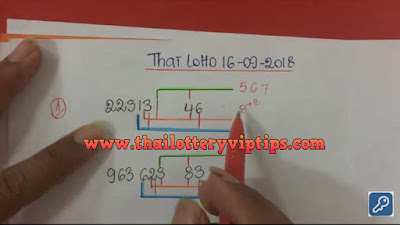 Thai lottery 3up pair VIP winning formula numbers 16 September 2018