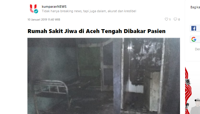Rumah Sakit Jiwa di Aceh Tengah Dibakar Pasien, Suryo Prabowo Beri Komentar Mak Jleb Soal Pilpres