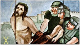 Via Sacra 10 'Jesus é Despojado de Suas Vestes', na Capilla Hotel de Villavicencio