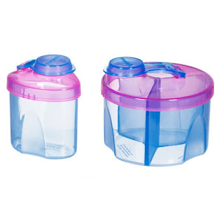 علبتين لحفظ الحليب او الاكل للاطفال  Munchkin, Powdered Formula Dispenser Combo Pack, 2 Pack