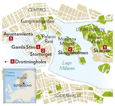 Mapa de Estocolmo-Blauset