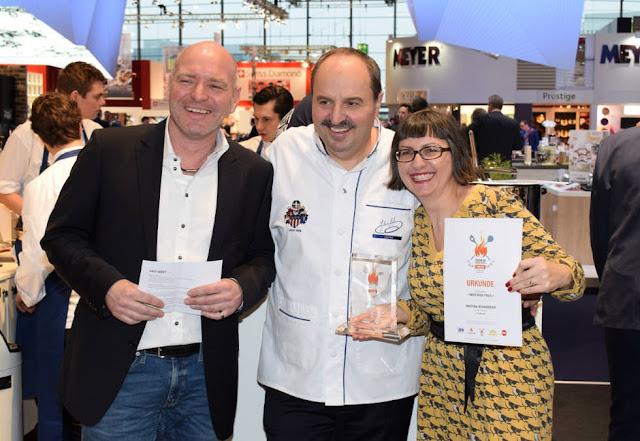 Markus Tebbe, Johann Lafer und Foodbloggerin Martina Brandmeier