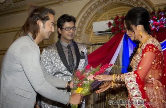 rajesh hamal and madhu bhattarai wedding, suman singh thakuri