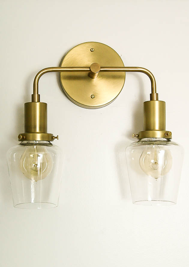 Schoolhouse Electric brass sconce