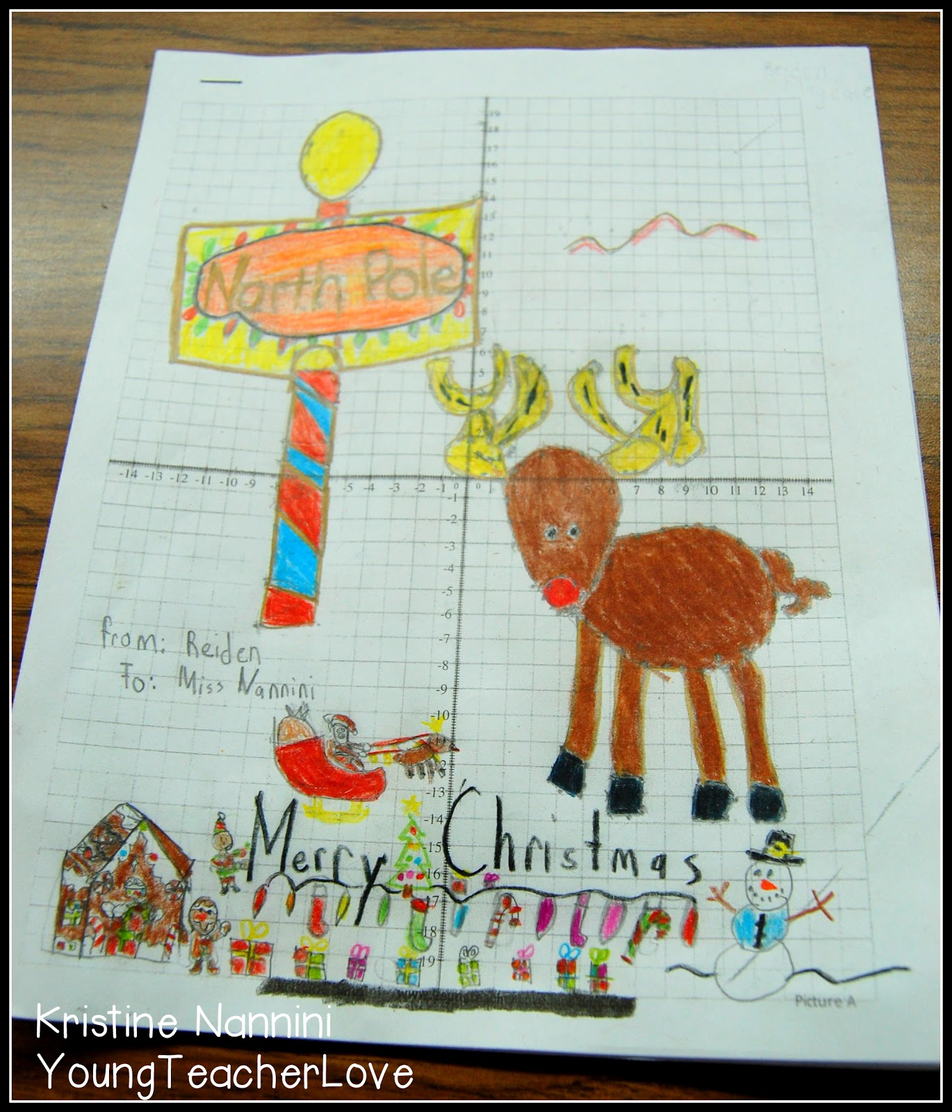 Young Teacher Love Christmas Math Christmas Coordinate Graph Mystery Pictures And An Update