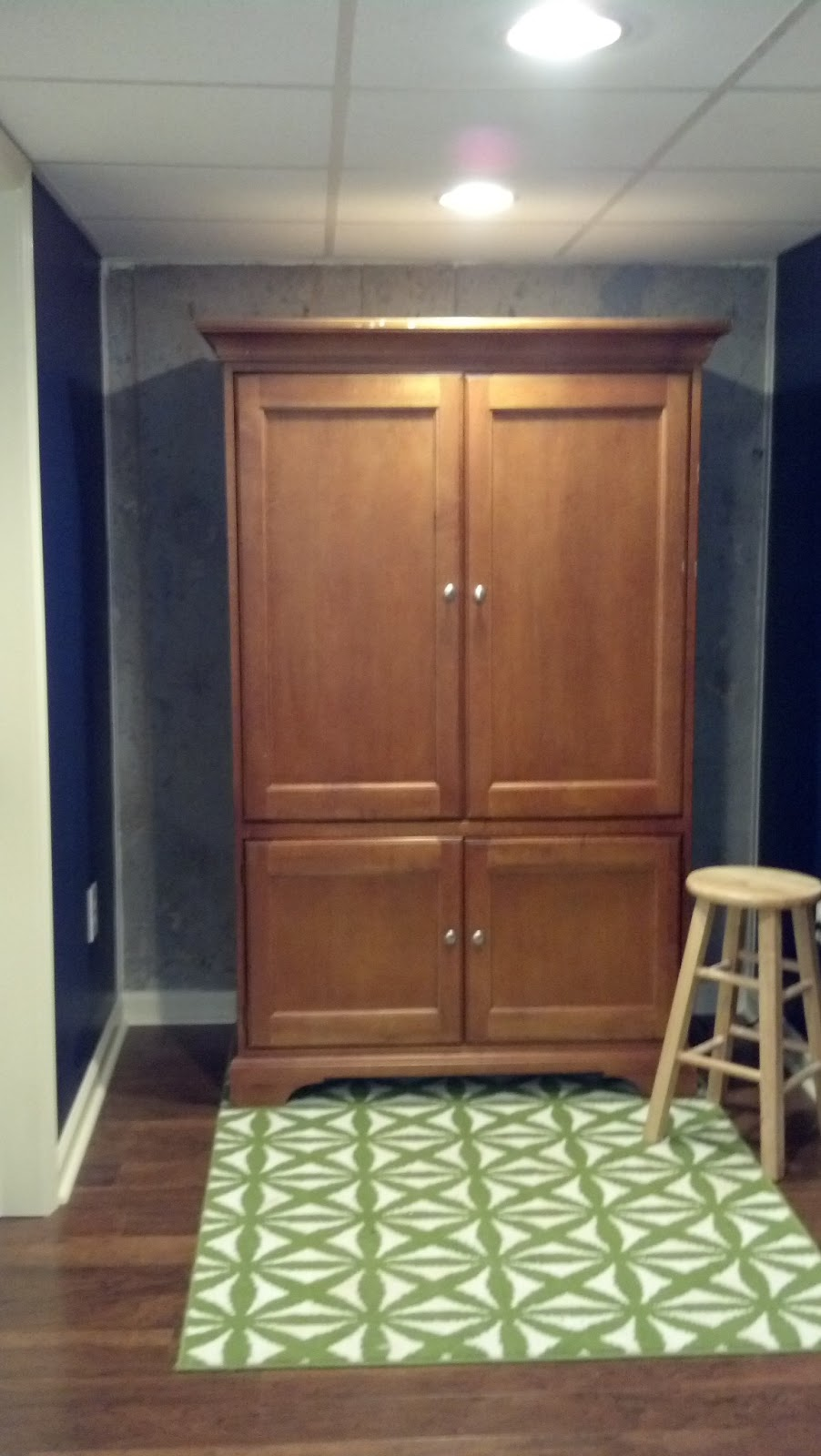 The Corner Yard Transforming A Television Armoire Into A