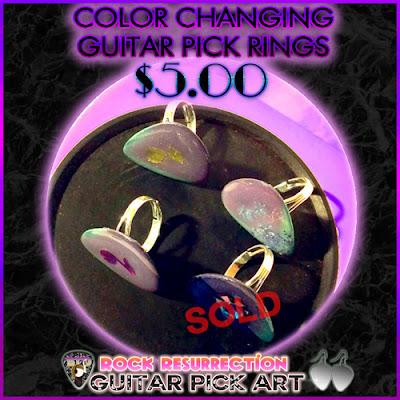Color CHANGING Guitar Pick Rings