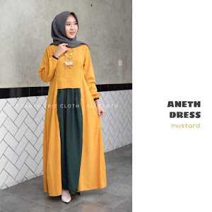 Gamis Dress Aneth Mustard
