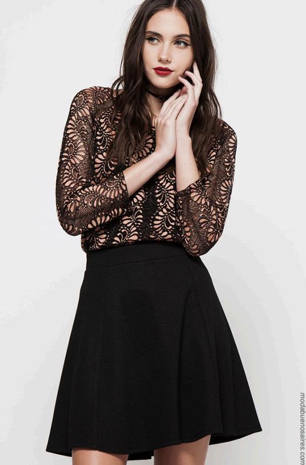 Moda invierno 2017 blusas de encaje moda mujer.