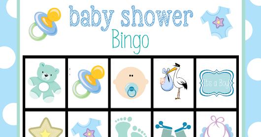 Fabuloso Bingo para Baby Shower de Niño, para Imprimir Gratis. Lindo Bingo  KN28