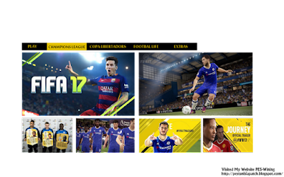 New Menu FIFA 17 For PES 2013 Style Created By PES-Wining
