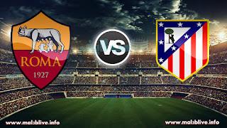 مشاهدة مباراة اتليتكو مدريد وروما بث اون لاين atletico de madrid vs as roma بتاريخ 22-11-2017 دوري أبطال أوروبا