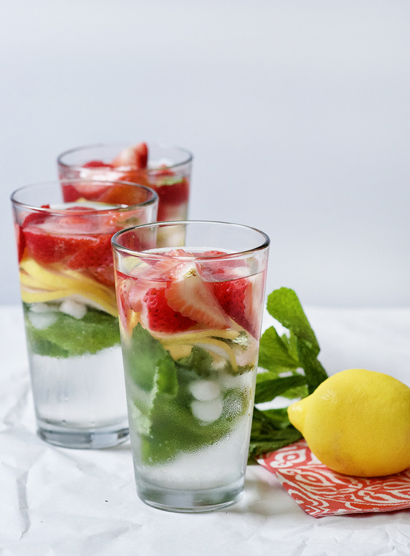 Strawberry, Basil, and Lemon Infused Water | Obsessive Cooking Disorder