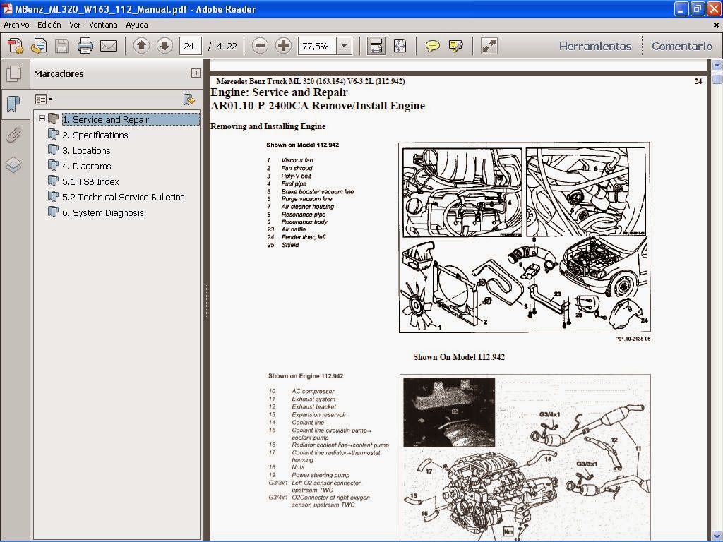 ml320 engine diagram single phase capacitor start wiring mbe 4000 free image for user