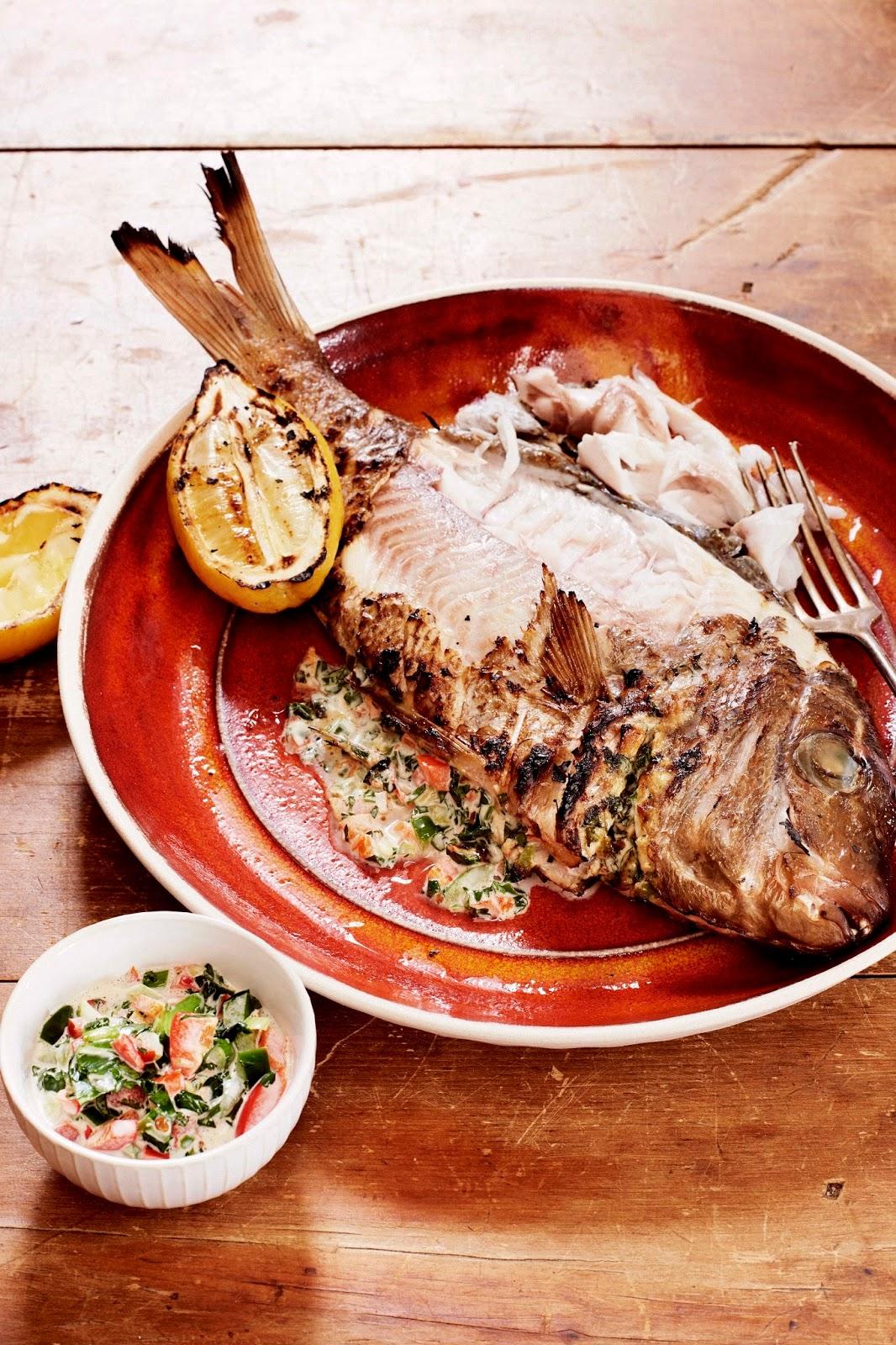 Chimichurra Fire Fish With Smoked Chimmichurri Mayo...