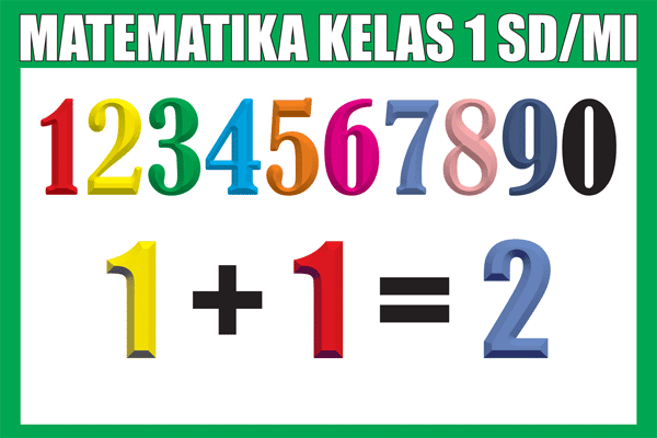 Materi Pelajaran Matematika Kelas 1 SD/MI Semester 1/2