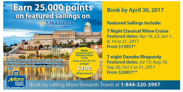 Btw Those 25 000 Points Are Worth About 105 Maybe You Could Use Them Towards Your Flights To Catch The Cruise Have Call More Rewards Travel At