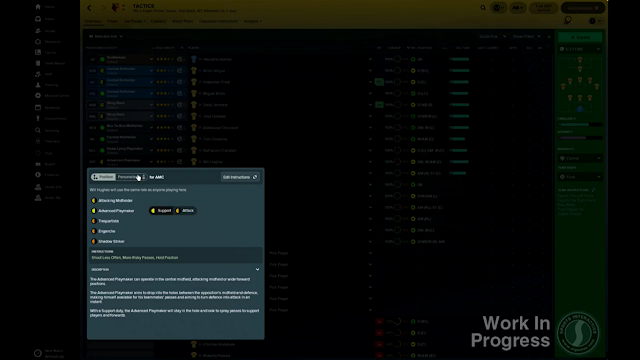 Players section tactics screen in FM18