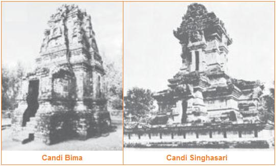 Seni Bangunan Peninggalan Kerajaan Hindu-Buddha di Indonesia - candi bima dan singhasari