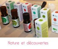 huiles essentielles de Nature et découvertes