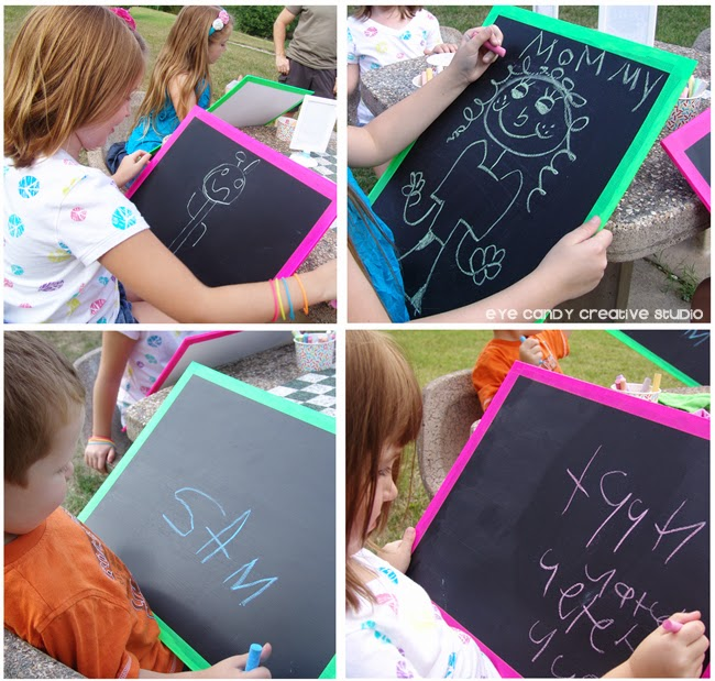 fun with chalk, how to make a homemade chalkboard, summertime chalk