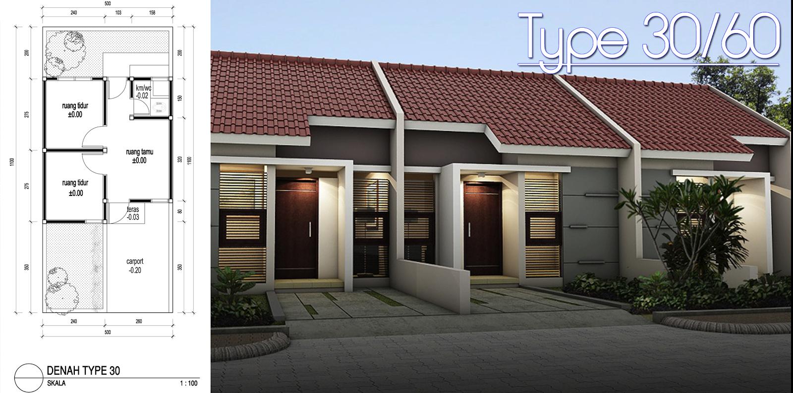 Desain Rumah Type 3060  Rumah Desain Minimalis