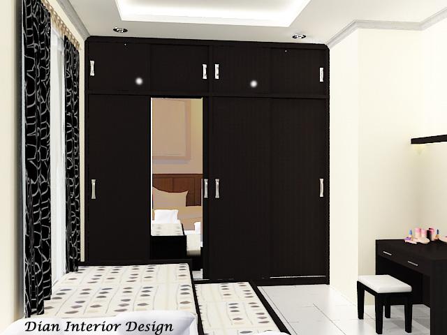 Lemari Pakaian Sliding 4 Pintu Dian Interior Design