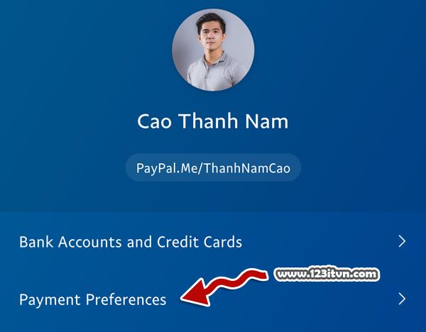 Chọn nguồn tiền khi giao dịch trong Paypal