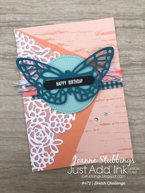 Jo's Stamping Spot - Just Add Ink Challenge #472 using Springtime Impressions dies by Stampin' Up!