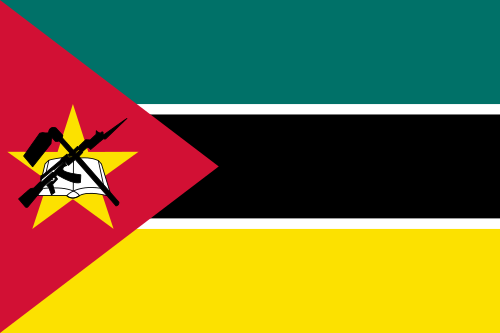 Flag of the Republic of Mozambique as of 2020