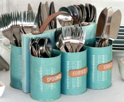 porta talheres reciclavel lata decoracao cozinha sustentabilidade reciclagem
