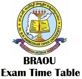 Dr. B.R. Ambedkar Open University Time Table 2017