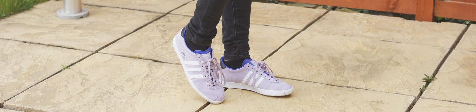 lilac gazelle adidas trainers