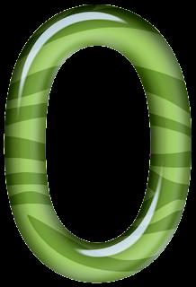 Abecedario Verde con Textura de Cebra.  Green Alphabet with Zebra Texture.
