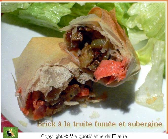 Vie quotidienne de FLaure: Brick au saumon et aubergine