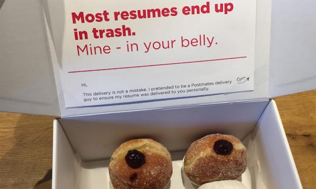 Lelaki Letak Resume Dalam 40 Kotak Donut