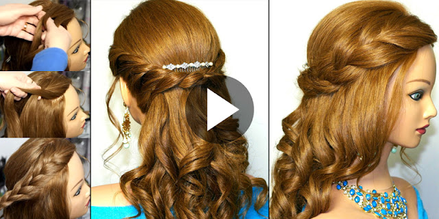 Learn - How To Make Simple Curly Romantic Prom Hairstyle, See Tutorial