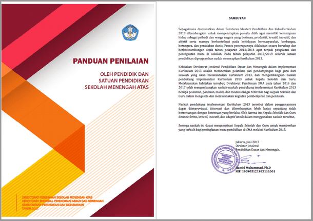 Panduan Penilaian Kurikulum 2013 SMA Tahun 2017-2018
