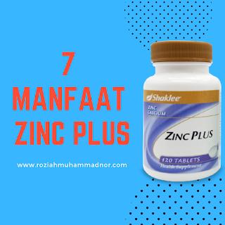 7 Manfaat Zinc Plus Shaklee