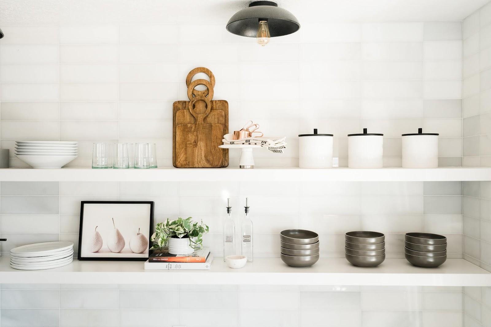 Open Shelving Designs, White Pantry