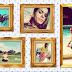 Molduras com 5 fotos estilo porta retrato