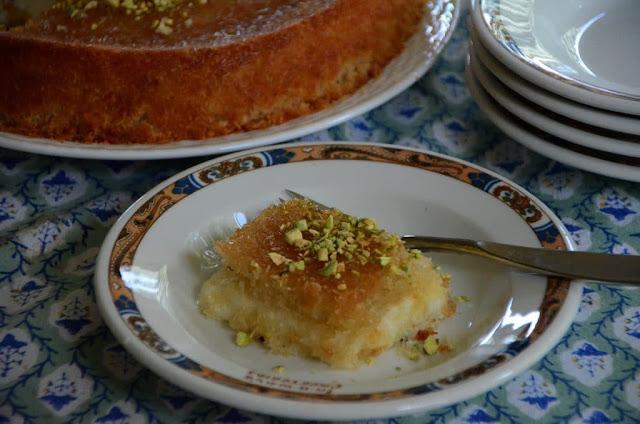 Lebanese Knafeh Jibneh with Orange Blossom Syrup