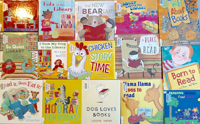 library day, library storytime, books about reading