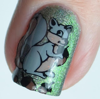 squirrel nail art