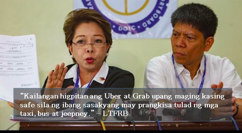 Netizens, celebrities outraged by LTFRB's crackdown on Uber and Grab